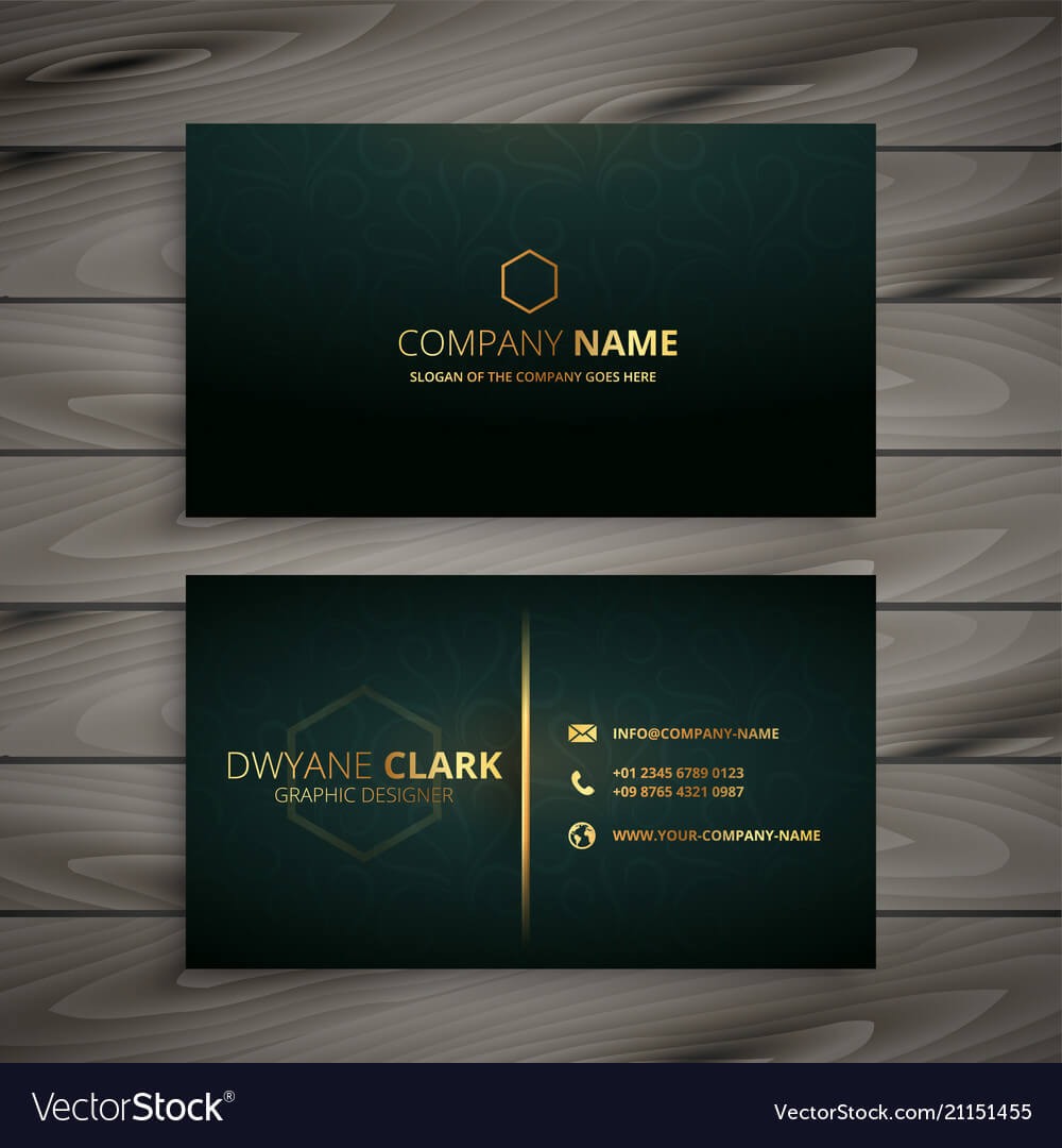 Premium Elegant Business Card Template Regarding Buisness Card Template