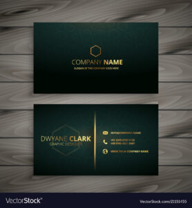 Premium Elegant Business Card Template with Buisness Card Templates