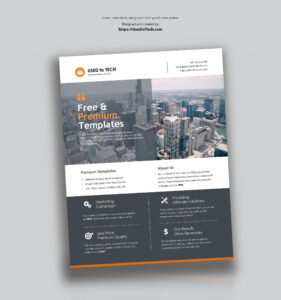 Premium Flyer Design In Microsoft Word Free – Used To Tech within Templates For Flyers In Word