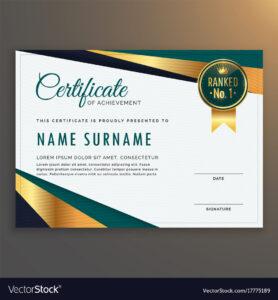 Premium Modern Certificate Template Design regarding Design A Certificate Template