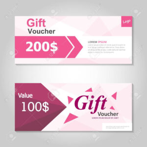 Premium Pink Gift Voucher Template Layout Design Set, Certificate.. pertaining to Pink Gift Certificate Template