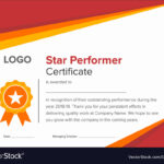 Premium Star Performer Certificate Templates Powerpoint with regard to Star Performer Certificate Templates
