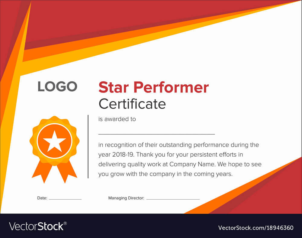 Premium Star Performer Certificate Templates Powerpoint With Regard To Star Performer Certificate Templates