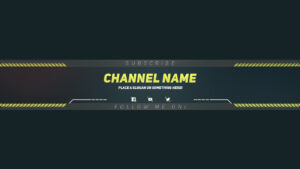 Premium Youtube Banner Template – Photoshop Template inside Yt Banner Template
