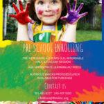 Preschool Enrollment Colorful Poster/flyer Template | School Inside Play School Brochure Templates