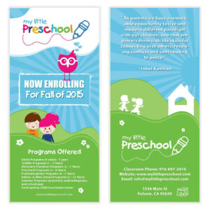 Preschool Flyer Template 06 | Chakra Posters, Flyers for Play School Brochure Templates