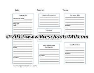 Preschool Lesson Plan Template – Lesson Plan Book Template regarding Teacher Plan Book Template Word