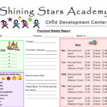 Preschool Progress Report Template | Pre K | Preschool Daily With Regard To Daily Report Card Template For Adhd