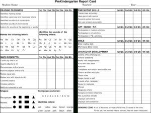 Preschool Report Card Main Image – Preschool Progress Report intended for Character Report Card Template