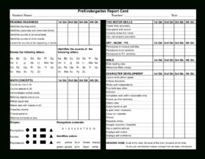 Preschool Report Card | Templates At Allbusinesstemplates with regard to Character Report Card Template