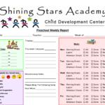 Preschool+Printable+Weekly+Progress+Reports+John+Blog Within Preschool Weekly Report Template