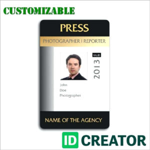 Press Id Template – Wecolor.co for Media Id Card Templates