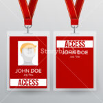 Press Pass Id Card Vector. Plastic Badge Template To Regarding Conference Id Card Template