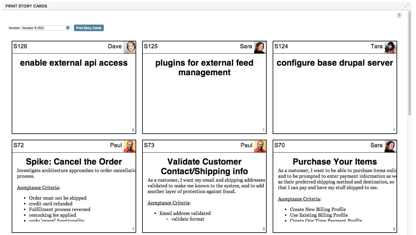 Print Story Cards - Ca Agile Central - Ca Technologies With Regard To Agile Story Card Template