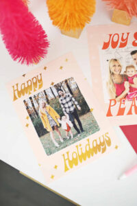 Print Your Own Holiday Cards (Free Template Included!) – A Regarding Print Your Own Christmas Cards Templates