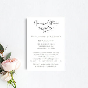 Printable Accommodation Card Templates, Rustic Wedding Accommodation  Template, Printable Accommodations Card, Diy Hotel Accommodations Card with regard to Wedding Hotel Information Card Template