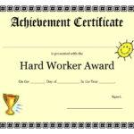 Printable Achievement Certificates Kids | Hard Worker Throughout 5Th Grade Graduation Certificate Template