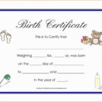 Printable Adoption Certificate Template And Child With Inside Child Adoption Certificate Template