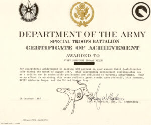 Printable Army Certificate Of Completion Template for Army Certificate Of Completion Template