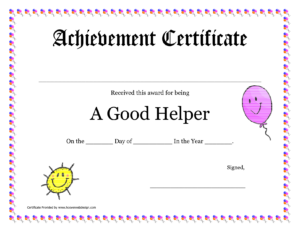 Printable Award Certificates For Teachers | Good Helper in Teacher Of The Month Certificate Template