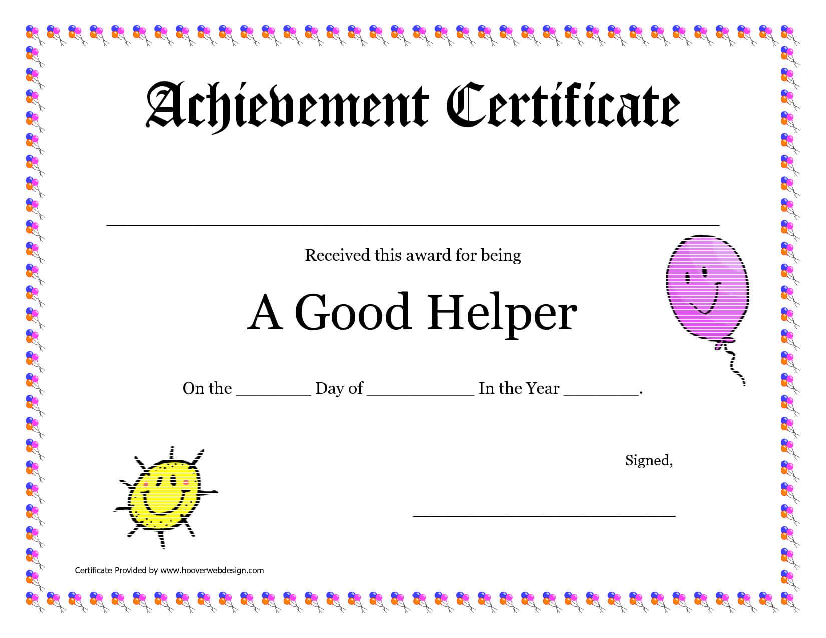 Printable Award Certificates For Teachers   Good Helper Regarding Classroom Certificates Templates
