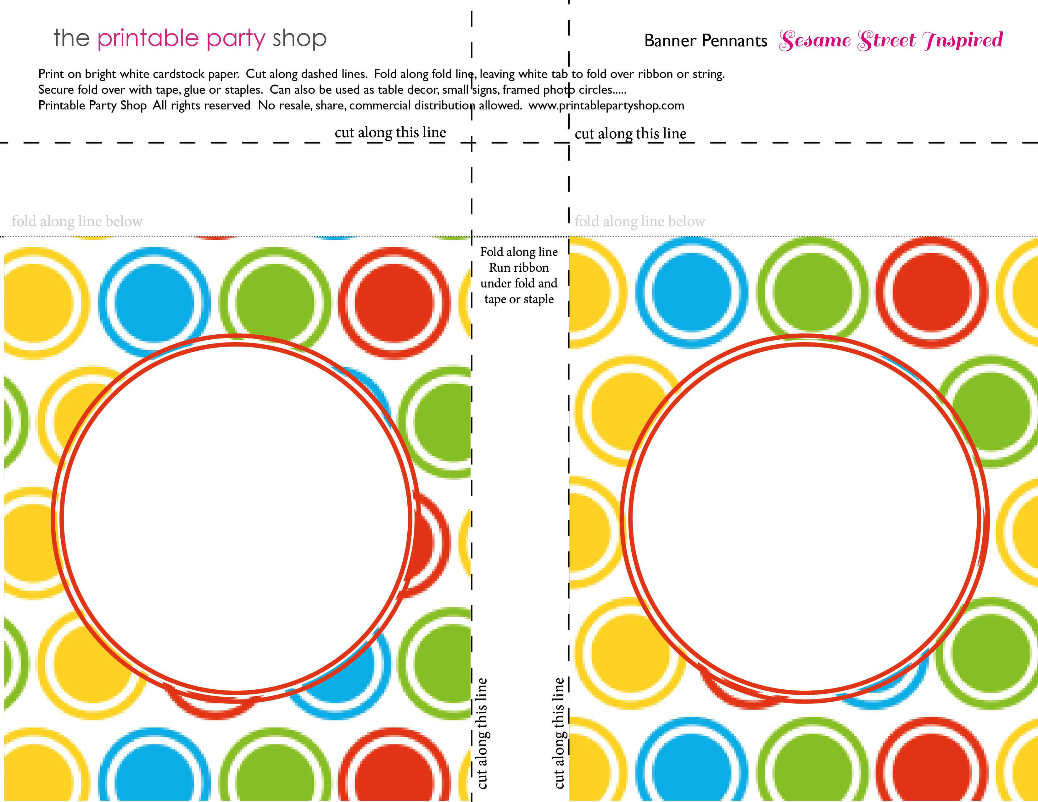 Printable Banners Templates Free | Banner Squares Big Dots In Sesame Street Banner Template