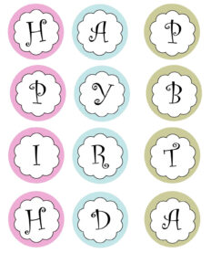 Printable Banners Templates Free | Print Your Own Birthday regarding Letter Templates For Banners