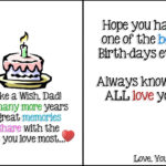 Printable Birthday Cards Foldable For Dad | Chart And With Regard To Foldable Birthday Card Template