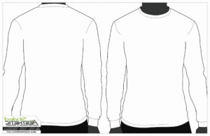 Printable Blank Tshirt Template Luxury Long Sleeve T Shirt inside Printable Blank Tshirt Template