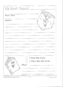 Printable Book Report Forms | Miss Murphy's 1St And 2Nd in Book Report Template 2Nd Grade