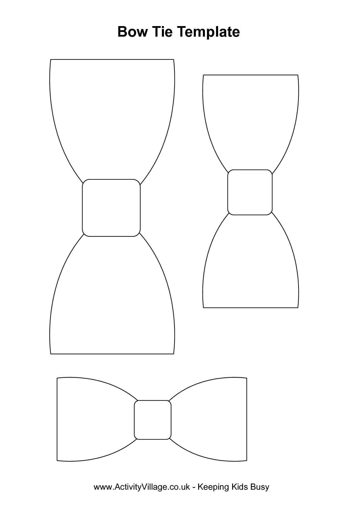 Printable Bow Tie Pattern  Use For Banner? Print On Pertaining To Tie Banner Template