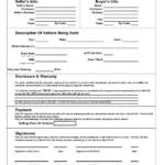 Printable Car Bill Of Sale Pdf   Bill Of Sale For Motor Regarding Vehicle Bill Of Sale Template Word