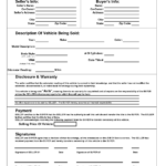 Printable Car Bill Of Sale Pdf   Bill Of Sale For Motor With Car Bill Of Sale Word Template