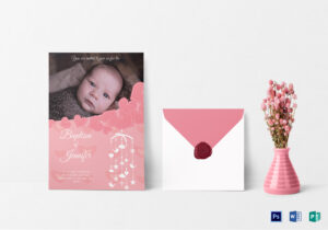 Printable Christening Baptism Invitation Card Template pertaining to Baptism Invitation Card Template