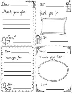 "Printable Christmas ""thank You"" Cards For Children pertaining to Christmas Note Card Templates"