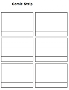 Printable Comic Strip Template Pdf Word Pages | Printable within Printable Blank Comic Strip Template For Kids