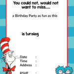 Printable Dr. Seuss Birthday | Birthday Invitation For within Dr Seuss Birthday Card Template