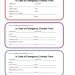 Printable Emergency Contact Form For Car Seat | Super Mom I in Emergency Contact Card Template