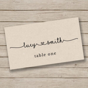 Printable Escort Card Template – Place Card Template – Tent pertaining to Ms Word Place Card Template