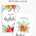 Printable Floral Birthday – Cards, Tags & Gift Box   General Throughout Mom Birthday Card Template