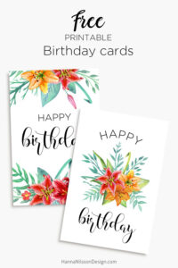 Printable Floral Birthday – Cards, Tags & Gift Box | General throughout Mom Birthday Card Template