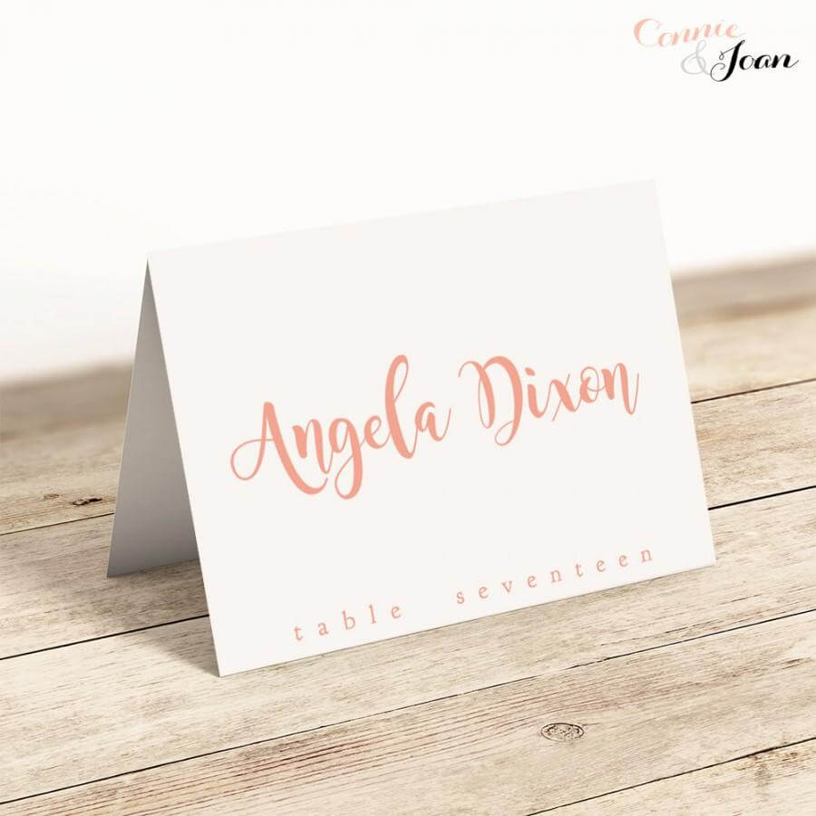 Printable Folded Place Cards Table Name Cards Template Within Table Name Card Template
