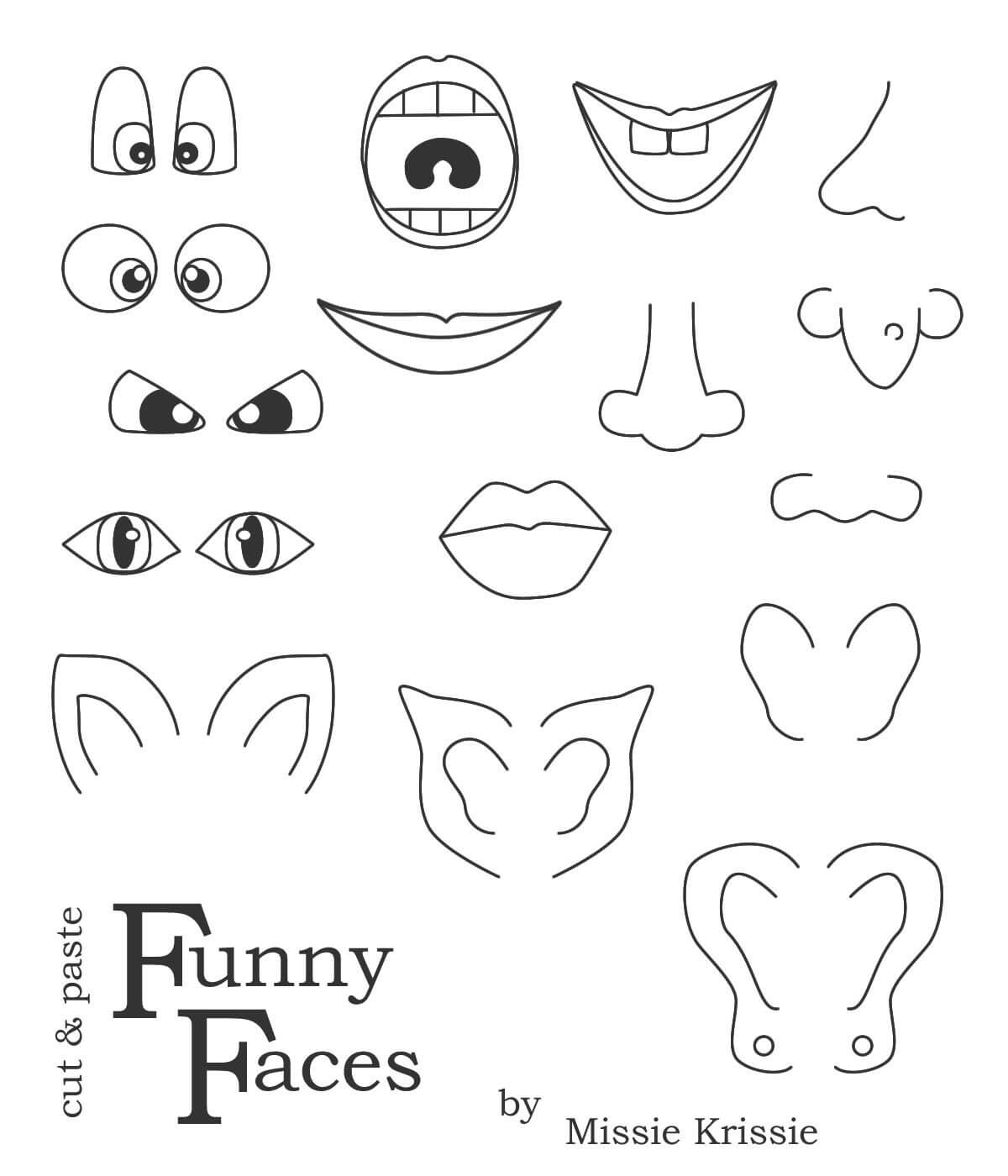 Printable Funny Face Images |  , Wait For It To Load Throughout Blank Face Template Preschool