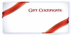 Printable Gift Certificate Templates in Printable Gift Certificates Templates Free