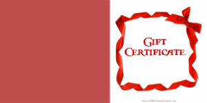 Printable Gift Certificate Templates pertaining to Dinner Certificate Template Free