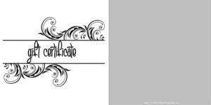 Printable Gift Certificate Templates regarding Black And White Gift Certificate Template Free