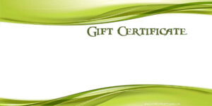 Printable Gift Certificate Templates within Custom Gift Certificate Template