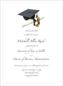 Printable Graduation Invitations 2015 Postcard Look intended for Free Graduation Invitation Templates For Word