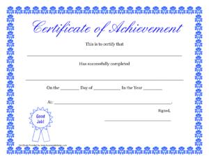 Printable Hard Work Certificates Kids | Printable in Free Printable Certificate Of Achievement Template
