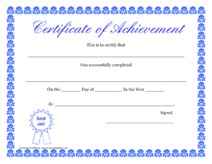 Printable Hard Work Certificates Kids | Printable with Track And Field Certificate Templates Free